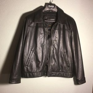 L- Wilson Leather Bomber Jacket w/Thinsulate